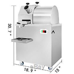 110V Automatic Sugarcane Juicer Sugar Cane Grind Press Machine Stainless Steel