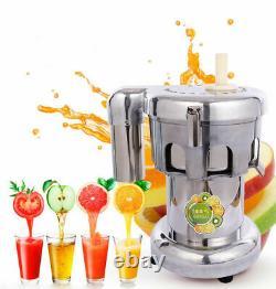 110V Fruit Vegetable Juice Extractor Maker Cold Press Juicer Machine Steel 750W