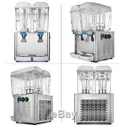 18L x 2 9.5Gal Juice Beverage Dispenser Fruit Juicer Cold Hot Drink