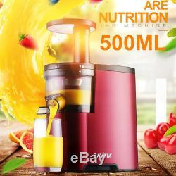 220V Electric Slow Juicer Fruits Vegetables Low Speed Juice Maker Extractor