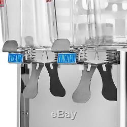 36L 9.5Gal Juice Beverage Dispenser 2 Tank Cold and Hot Drink Fruit Juicer