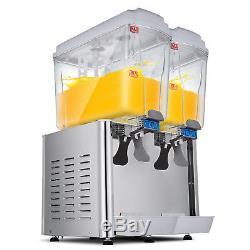 36L Commercial Juice Beverage Dispenser Cold and Hot Drink Fruit Ice Tea Juicer