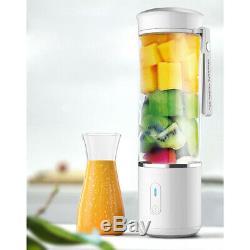 500ml Portable Juice Blender USB Juicer Cup Multi-Function Fruit Mixer 6 Blade