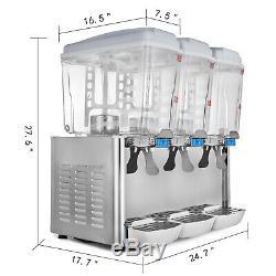 54L Hot Cold Drink Juice Beverage Dispenser 380With1530W Fruit Bubbler Juicer