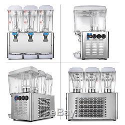 54L Hot Cold Drink Juice Beverage Dispenser Fruit Juicer Bubbler 14.25Gal