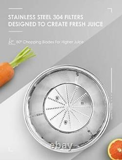 AICOK Whole Fruit and Vegetable Juicer Easy Clean 3 Speed Juice Machine