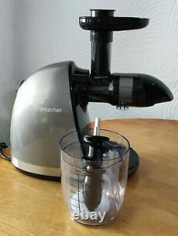 AMZCHEF Juicer Machine, Slow Masticating Juicer Extractor, BPA-Free, Grey