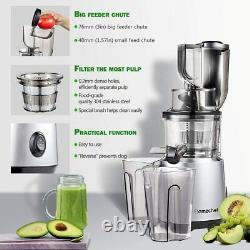 AMZCHEF Juicer Machines Slow Masticating Cold Press Wide Mouth Juicer