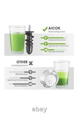 Aicok Slow Masticating Juicer Machine 150W Black AMR-521