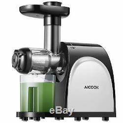 Aicook Slow Masticating Cold Press Juicer Juice Extractor Machine Higher Yield
