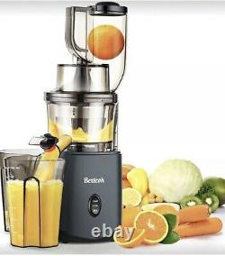 BEXTCOK Slow Masticating Whole Fruit Electric Juicer Quiet Easy To Clean
