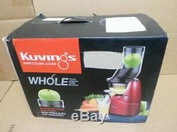 BRAND NEW Kuvings Whole Slow Juicer Red B6000PR