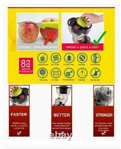 Berg J Pro Cold Press Slow Juicer Whole Fruit Masticating Juicer 33-rpm 250w