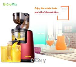Biolomix Whole Mouth Slow Fruit Juicer 43RPM Juice Extractor NEW