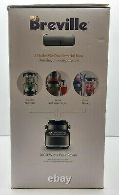 Breville BJB615SHY the 3x Bluicer plus Juice Extractor Blender Silver