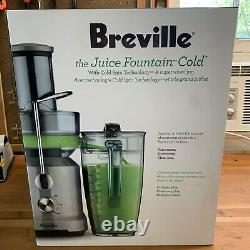 Breville BJE430SIL Juice Fountain Cold Centrifugal Juicer, Silver BJE430SIL