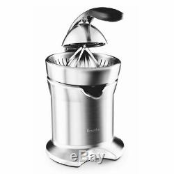 Breville Die-Cast Citrus Juice Press Stainless Steel Electric Fruit Extractor