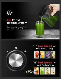 CENTRIFUGAL JUICER Wide Mouth Commercial Fruit Vegetable Juice Extractor Machine