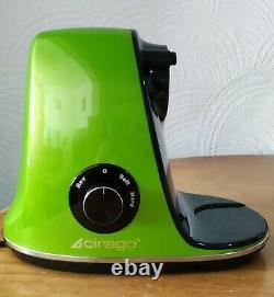 CIRAGO Slow Masticating Juicer Machine, Two Speed Adjustment, BPA-Free Green