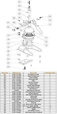 CanCan XL 0103 Manual Hand Press Juicer Professional Pomegranate Orange Citrus