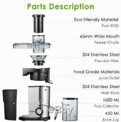 Centrifugal Juicer Whole Fruit Vegetable Juice Extractor Machine Clean Counter