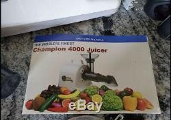 Champion Juicer Home Masticating Juicer 4000WT Excellent Used Condition