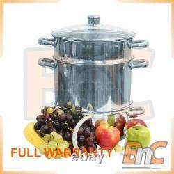 Citrus Juicer Fruits Squezzer Juice Press manual BIOWIN 80050 stainless steel 8L