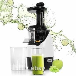 Cold Press Juicer Machine Fruit Vegetables Whole Hole Quiet Motor Press