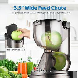 Cold Press Juicer Machine Masticating Slow Juice Extractor Maker Fruit Vegetable