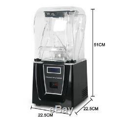Commercial Electric Soundproof Cover Blender Fruit Juicer Smoothie Maker Mixer