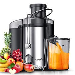 EASEHOLD Fruit Juicer Professional Whole Vegetable Extractor 800W Dual Juice