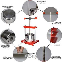 EJWOX 0.53 Gallon Stainless Steel Soft Fruit Wine Juice Press Cheese Making