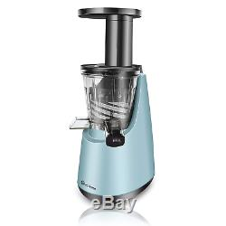 EcHome Slow Juicer Fruit Vegetable Cold Press Juice Extractor Machine Blue