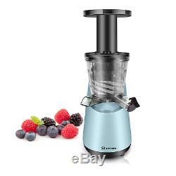 EcHome Slow Juicer Fruit Vegetable Cold Press Juice Extractor Machine Blue