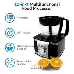 ElectriQ 1100W Food Processor Blender Chopper Juicer Mixer 6 Speeds & Pulse