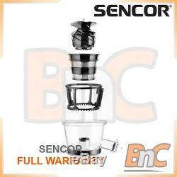 Electric Centrifugal Juicer Fruits Citrus Squezzer Low Speed SENCOR SSJ 4042RD