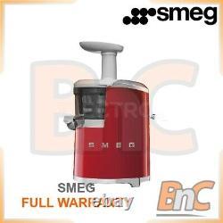 Electric Centrifugal Juicer Fruits Citrus Squezzer Low Speed SMEG Red SJF01RDEU