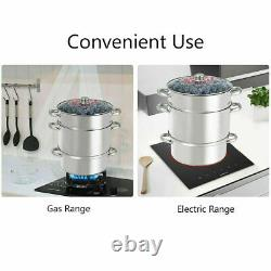 FRUIT JUICER STEAMER 11-Quart Stainless Steel Stove Top with Tempered Glass Lid