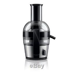 Fruit Juicer Machine Quick Clean Brushed Aluminium Compact Juice Extractor Maker