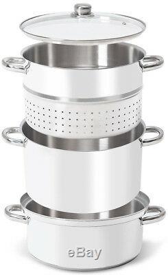 Fruit Juicer Steamer 3 Tier 11 Quart Stainless Steel Vegetables Juice Extractor