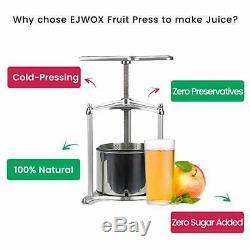 Fruit Wine Juice Press Cheese Tincture Herb Press 0.8 Gallon 3L Aluminum Juicer