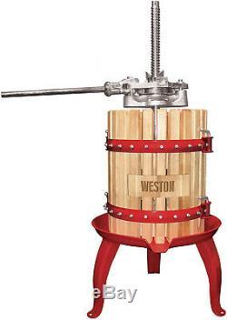 Fruit Wine Press Apple Cider Grapes Crusher Juicer Presser Juice Maker 4 Gallon