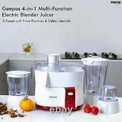 Geepas 4-In-1 Food Processor Blender Juicer Chopper Grinder Smoothie Maker 1.5L