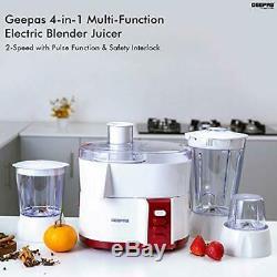Geepas 4-in-1 Multi-Function Food Processor Electric Blender Juicer, 2-Speed