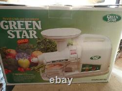 Green Star Gold GP-E1503 Twin Gear SLOW Juicer Full setup with all accessories