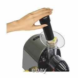 Hamilton Beach 67951 Masticating Juicer Machine Slow Quiet 150 Watts Silver New