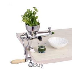 Hand Manual Juicer Slow Squeezer Fruit Wheat Grass Vegetable Orange Juice Press