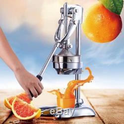 Hand Press Commercial Pro Manual Citrus Fruit Lemon Orange Juice Squeezer New