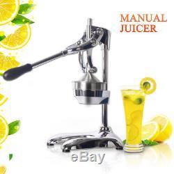 Hand Press Manual Fruit Juicer Juice Squeezer Citrus Lemon Extractor SS Body