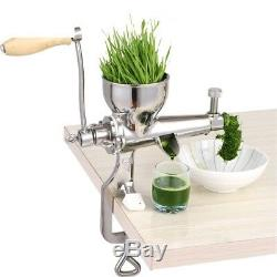 Hand Stainless Steel Wheatgrass Juicer Manual Auger Slow Squeezer Fruit Juice